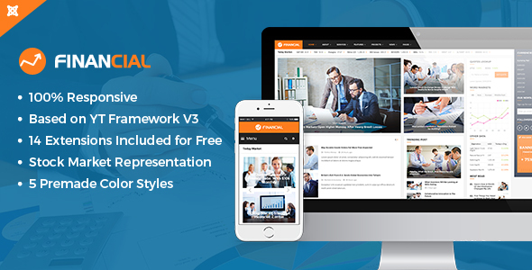 Financial III - Responsive Business Joomla Template