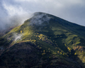 A foot path leads to the top of a foggy mountain - PhotoDune Item for Sale