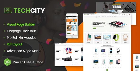 TechCity - The Premium Digital, SaaS, Apps & Electronics Opencart 3 Theme