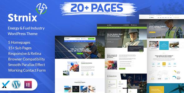 Strnix - Solar and Green Energy WordPress Theme