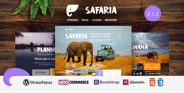 Safaria - Safari & Zoo WordPress Theme