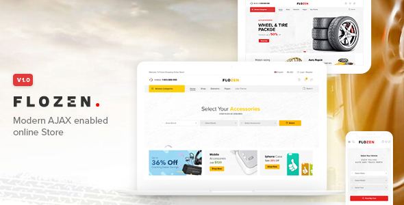 Flozen - WooCommerce AJAX WordPress RTL Theme