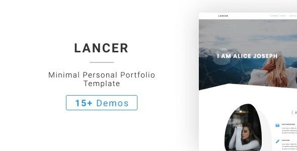 Lancer - Jekyll Minimal Personal Portfolio Template