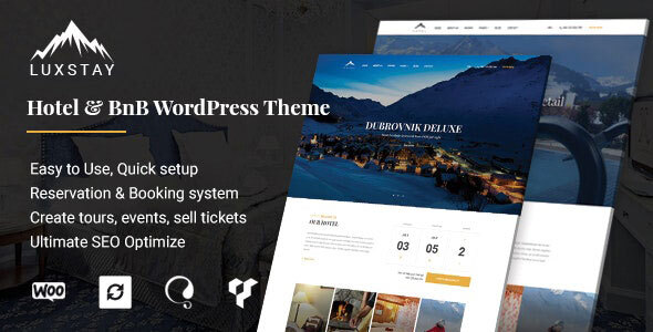 Hotel & BnB WordPress Theme | LuxStay Download