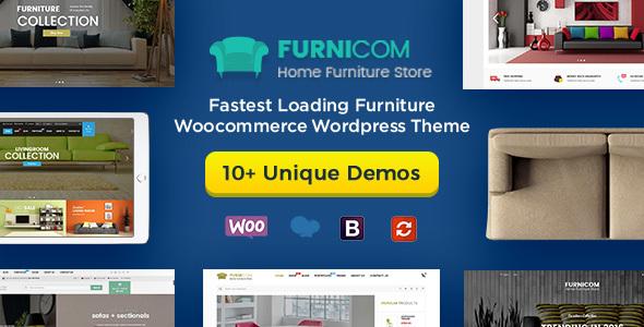 Furnicom - Furniture Store & Interior Design WordPress WooCommerce Theme (10+ Homepages Ready)
