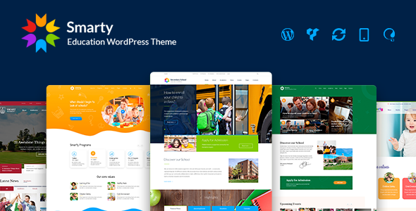 Smarty - School Kindergarten WordPress theme