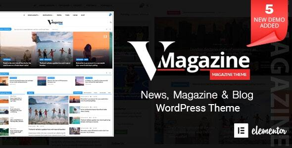 Vmagazine - Multi-Concept News WordPress Theme