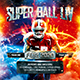 American Football Super Ball Square Flyer vol.1 - GraphicRiver Item for Sale