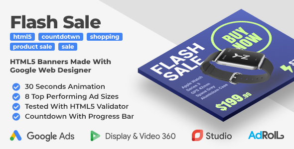 Flash Sale - Shopping Multipurpose HTML5 Banners (GWD)