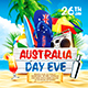 Australia Day Party Square Flyer vol.1 - GraphicRiver Item for Sale