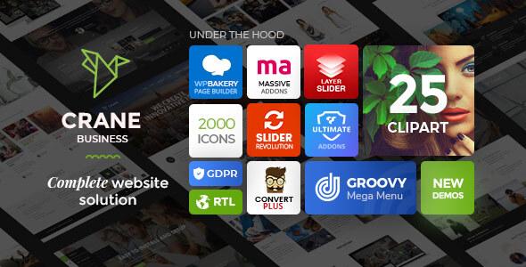 Crane - Responsive Multipurpose WordPress Theme