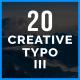 Creative Typo III - VideoHive Item for Sale