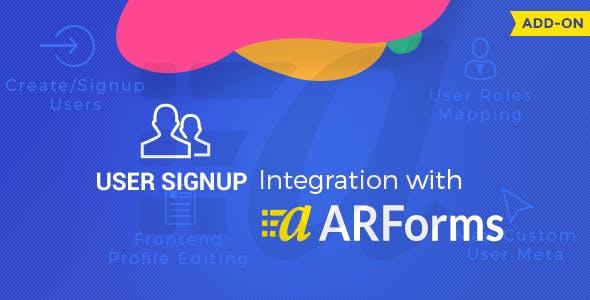 User Signup for Arforms Download