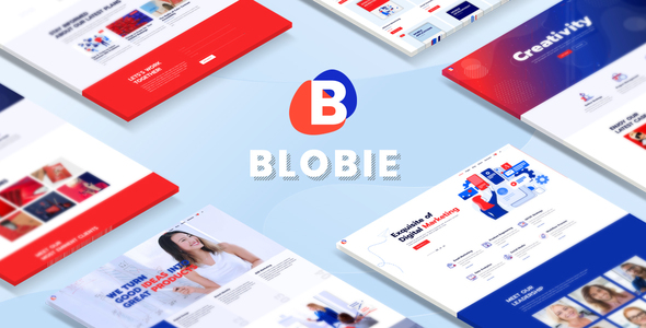 Blobie - Multiconcept Creative WordPress Theme