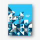 Modern Geometric Blue Stationery - GraphicRiver Item for Sale