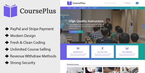 CoursePlus – Online Learning Management System (LMS)