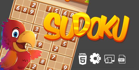 Sudoku Construct 2 HTML5 Game