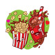 Popcorn and Coke Cartoon Character - GraphicRiver Item for Sale