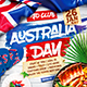 Australia Day Party Square Flyer vol.2 - GraphicRiver Item for Sale