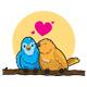 Bird Kissing Vector Illustration - GraphicRiver Item for Sale