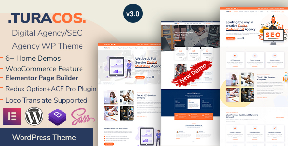 Turacos - Digital Agency/SEO Agency WordPress Theme