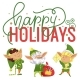 Happy Holiday Elves Preparing Gifts for Kids - GraphicRiver Item for Sale