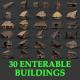 Medieval Village ENTERABLE 30 Houses Cottage Others MEGAPACK - 3DOcean Item for Sale