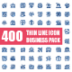 Thin Line Icons Business Pack - GraphicRiver Item for Sale
