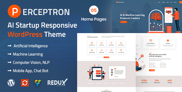 Perceptron - AI Startup WordPress Theme