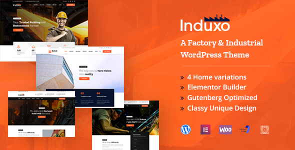 Induxo - Industry WordPress Theme