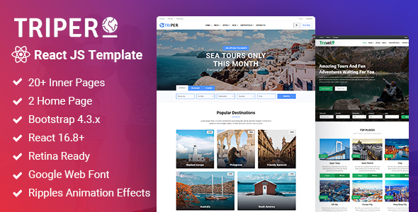 Review: Triper: Creative Tour & Travel, Hotel Booking Agency ReactJs Template free download Review: Triper: Creative Tour & Travel, Hotel Booking Agency ReactJs Template nulled Review: Triper: Creative Tour & Travel, Hotel Booking Agency ReactJs Template