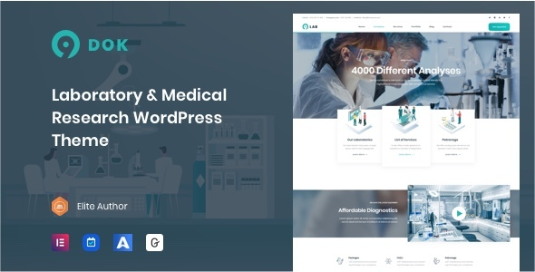 Ninedok - Laboratory & Research WordPress Theme