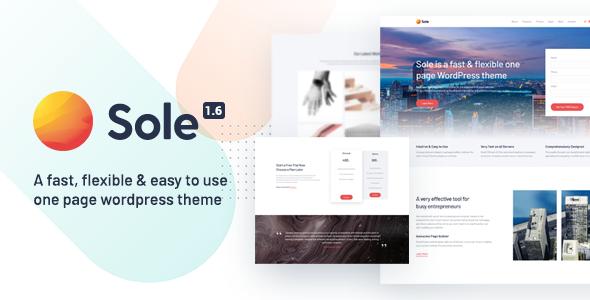 Sole - One Page WordPress Theme
