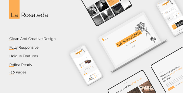 La Rosaleda - Creative HTML Template