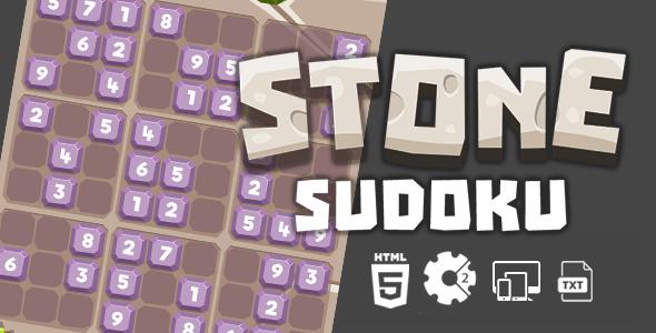 Stone Sudoku Construct 2 HTML5 Game