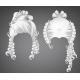 White Curly Girl Wig Women Rococo Hairstyle - GraphicRiver Item for Sale