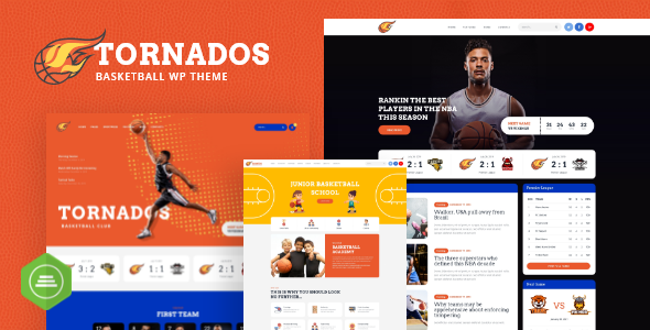 Tornados | Basketball NBA Team WordPress Theme