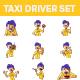 Taxi Driver Sticker Set - GraphicRiver Item for Sale