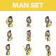 Indian Man Stickers - GraphicRiver Item for Sale