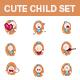 Baby Sticker Set - GraphicRiver Item for Sale