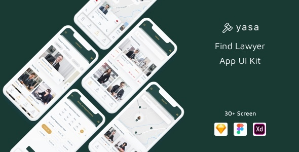 Yasa - Find Lawyer App UI Kit