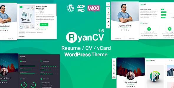RyanCV | CV/Resume Theme