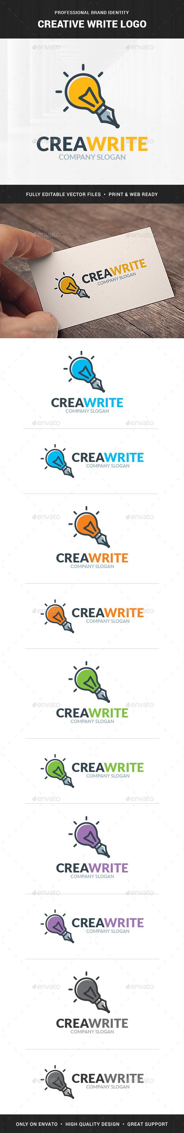 Creative Write Logo Template