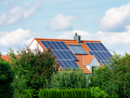 Modern House with Photovoltaic and Solar Heating System - PhotoDune Item for Sale