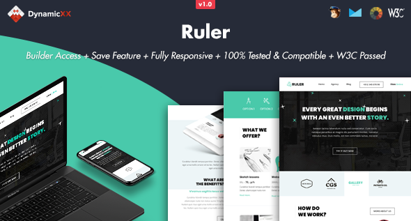 Ruler - Responsive Email + Online Template Builder