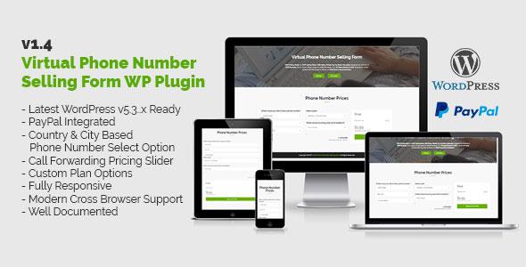 Virtual Phone Number Selling Form WordPress Plugin