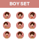 Cartoon Boy Sticker Set - GraphicRiver Item for Sale