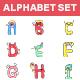 Alphabet Sticker Set - GraphicRiver Item for Sale