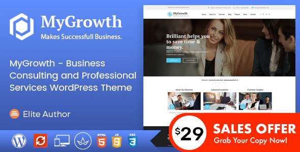My Growth - Business Consulting and Professional Services WordPress Theme