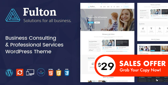 Fulton - Consulting Business and Multi-Purpose WordPress Theme